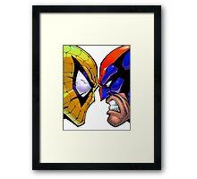 Revers Spider-man V.S. Wolverine Framed Print