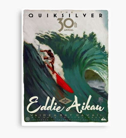 Quicksilver 30th Annual - Surf Poster Canvas Print