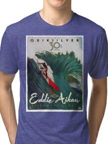 Quicksilver 30th Annual - Surf Poster Tri-blend T-Shirt