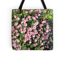 Beautiful spring bush with pink flowers. Tote Bag
