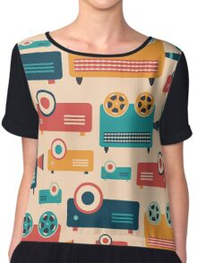 Retro Projectors Chiffon Top