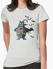 The  Dark Penguin Rises Womens Fitted T-Shirt