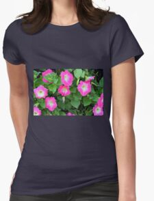 Purple flowers, natural background. Womens T-Shirt