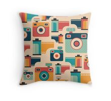 Film Rolls and Cameras Throw Pillow