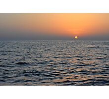 Sunset at the sea. Photographic Print