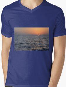 Sunset at the sea. Mens V-Neck T-Shirt