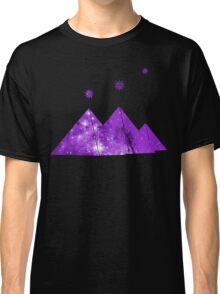 Cosmic Egypt Giza Pyramids with Stars of Orion's Belt Classic T-Shirt