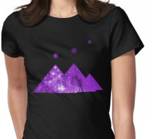 Cosmic Egypt Giza Pyramids with Stars of Orion's Belt Womens Fitted T-Shirt