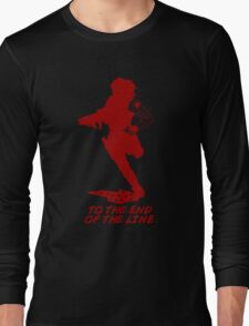 Winter Soldier - End of the Line - Silhouette (Red) Long Sleeve T-Shirt