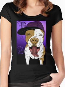 art dog pitbull Women's Fitted Scoop T-Shirt