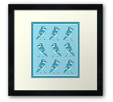 Blue Jays Pattern Framed Print