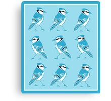 Blue Jays Pattern Canvas Print