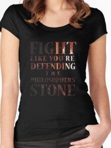 Like You're Defending the Philosopher's Stone. Women's Fitted Scoop T-Shirt