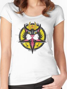 Black Cat 666 Women's Fitted Scoop T-Shirt