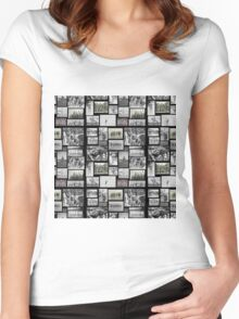 Vintage Swimmers - Tiled Format  Women's Fitted Scoop T-Shirt