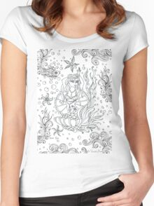 Fairground Mermaid  Women's Fitted Scoop T-Shirt