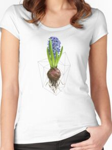 Blue Hyacinth Hydroponics (Tryptic 1/3) Women's Fitted Scoop T-Shirt
