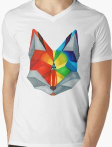 Third Eye Fox Mens V-Neck T-Shirt