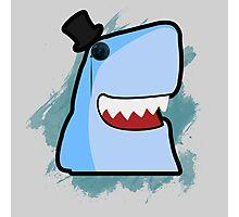 Dapper Cartoon Shark Photographic Print