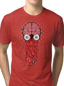BLOODY BRAINY SQUIDY Tri-blend T-Shirt