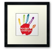 graphic hand Framed Print