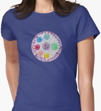 Sahaswari - the crown chakra Womens Fitted T-Shirt