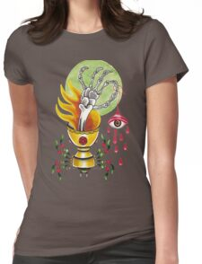 Goblet Of Fire  / black Womens Fitted T-Shirt