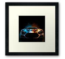 SPORT SPARKLING CAR Framed Print