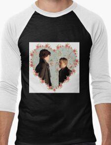 Johnlock Hearted Men's Baseball ¾ T-Shirt