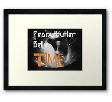Peanutbutter Belly Time - Family Guy Framed Print