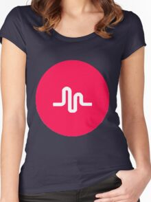 musically logo Women's Fitted Scoop T-Shirt