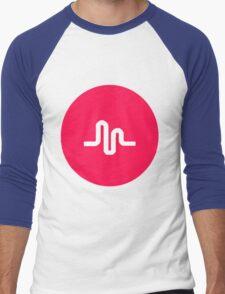 musically logo Men's Baseball ¾ T-Shirt