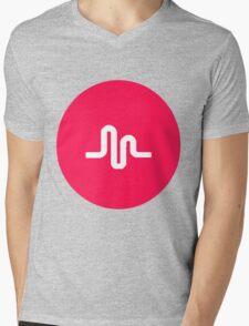 musically logo Mens V-Neck T-Shirt