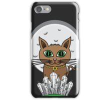 Cosmic Moon Cat - Green iPhone Case/Skin