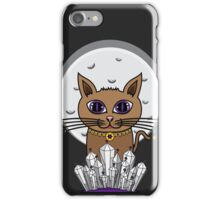 Cosmic Moon Cat - Purple iPhone Case/Skin