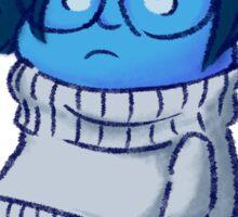 Feeling a little blue Sticker
