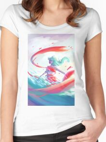 RIBBONS Women's Fitted Scoop T-Shirt