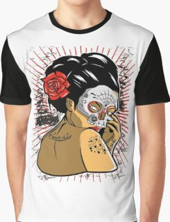 Skull Geisha Graphic T-Shirt