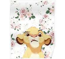 floral simba Poster