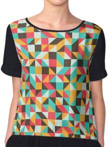 Abstract Geometry 30 Chiffon Top
