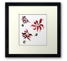Romantic Flowers Framed Print