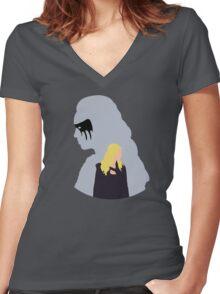 Clexa - The 100 -  Minimalist Women's Fitted V-Neck T-Shirt