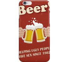 Beer Poster iPhone Case/Skin