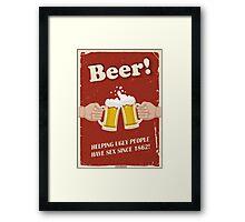 Beer Poster Framed Print