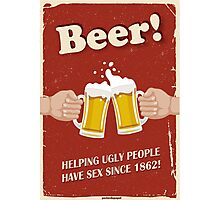 Beer Poster Photographic Print