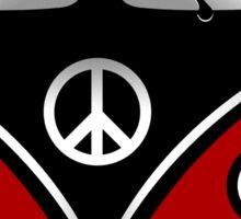 Hippie Van red Sticker