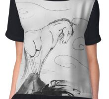Horse in the wind Chiffon Top
