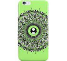 '1 UP' Mushroom Mandala iPhone Case/Skin