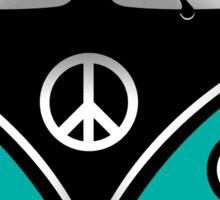 Hippie Van Blue Sticker