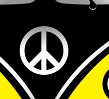 Hippie Van Yellow Sticker
